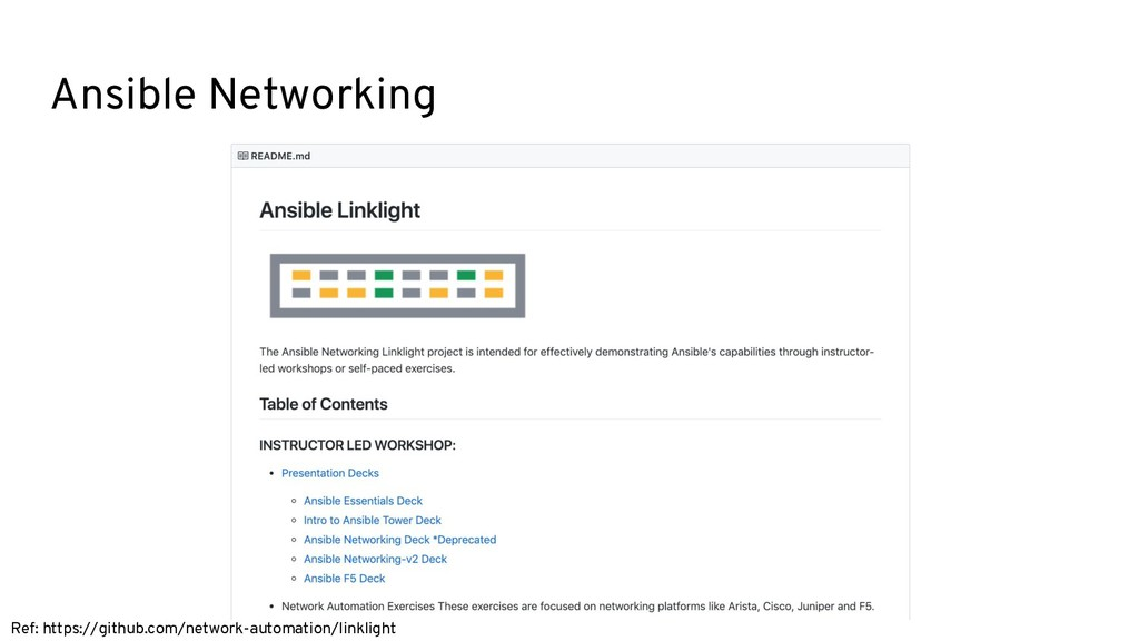 Ansible Networking Ref: https://github.com/netw...