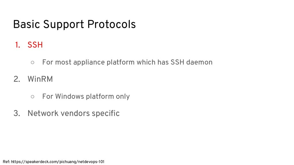 Basic Support Protocols 1. SSH ○ For most appli...