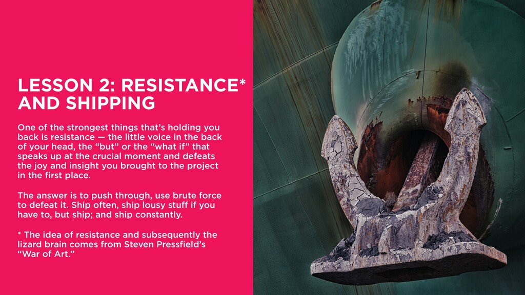 LESSON 2: RESISTANCE* AND SHIPPING One of the s...