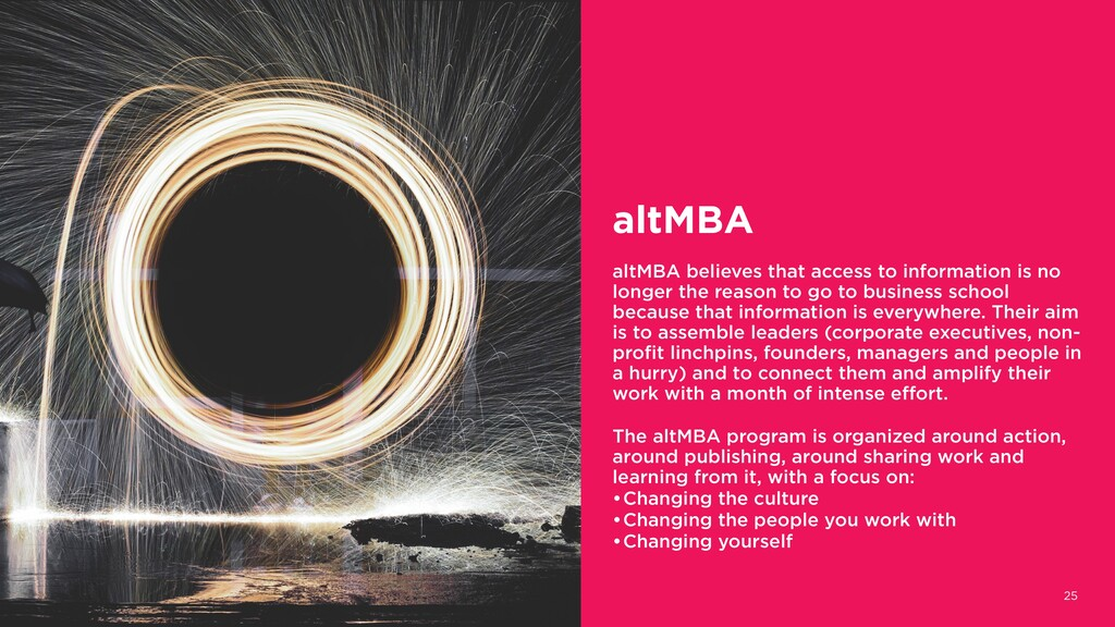 25 altMBA altMBA believes that access to inform...