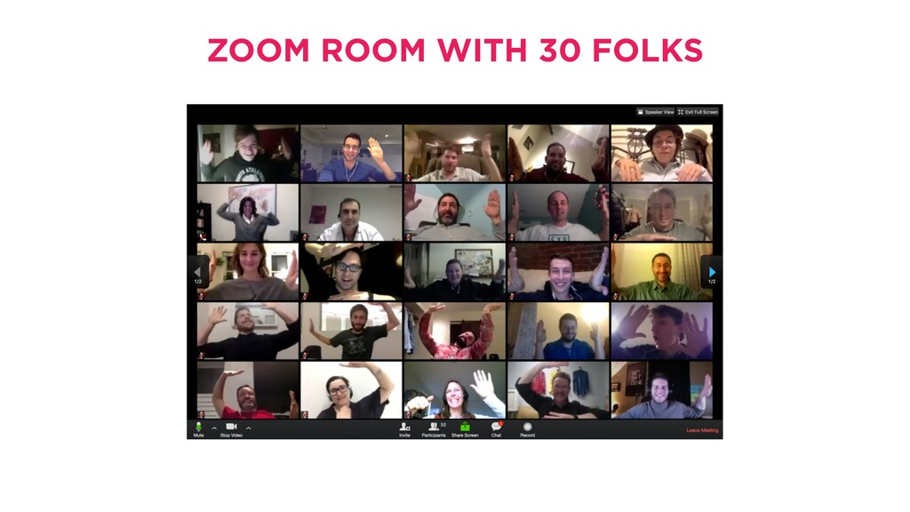 10 ZOOM ROOM WITH 30 FOLKS PLEASE ASSEMBLE IN T...