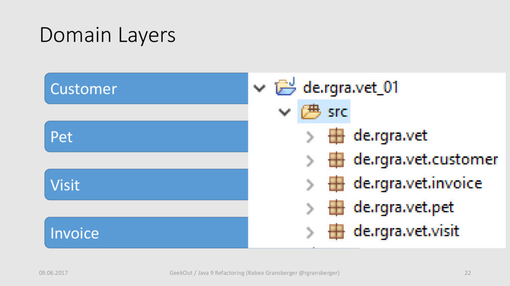 Domain Layers 09.06.2017 22 GeekOut / Java 9 Re...