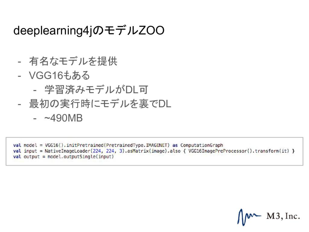 deeplearning4jのモデルZOO - 有名なモデルを提供 - VGG16もある - ...