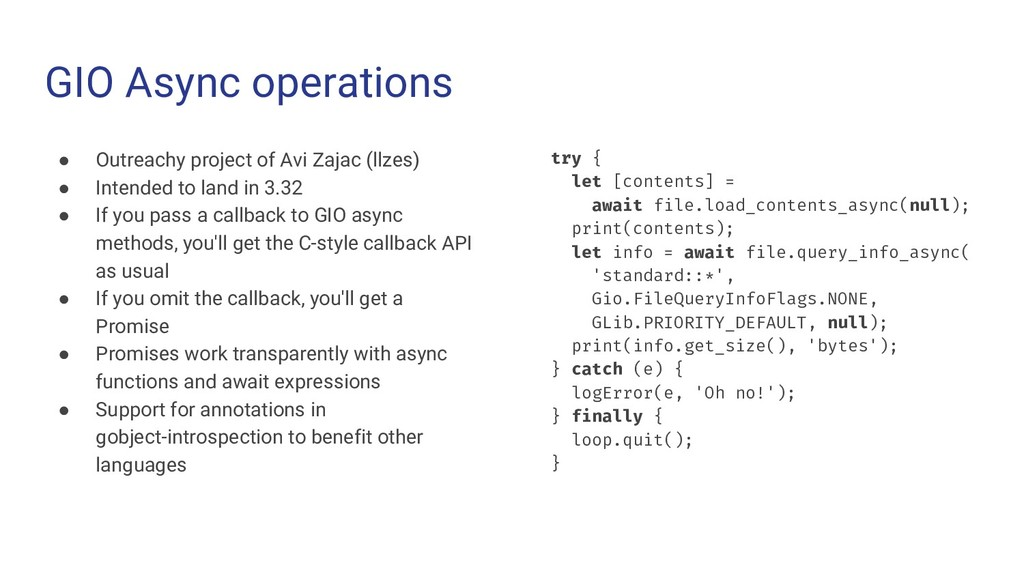 GIO Async operations ● Outreachy project of Avi...