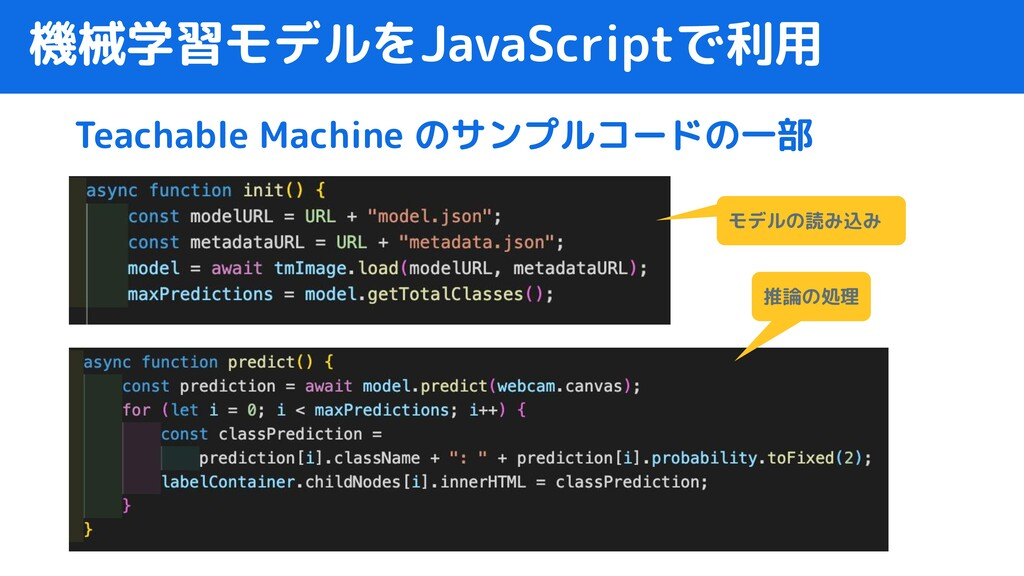 機械学習モデルをJavaScriptで利用 Teachable Machine のサンプルコー...