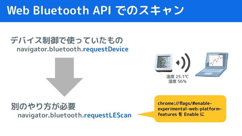 Web Bluetooth API でのスキャン デバイス制御で使っていたもの  naviga...
