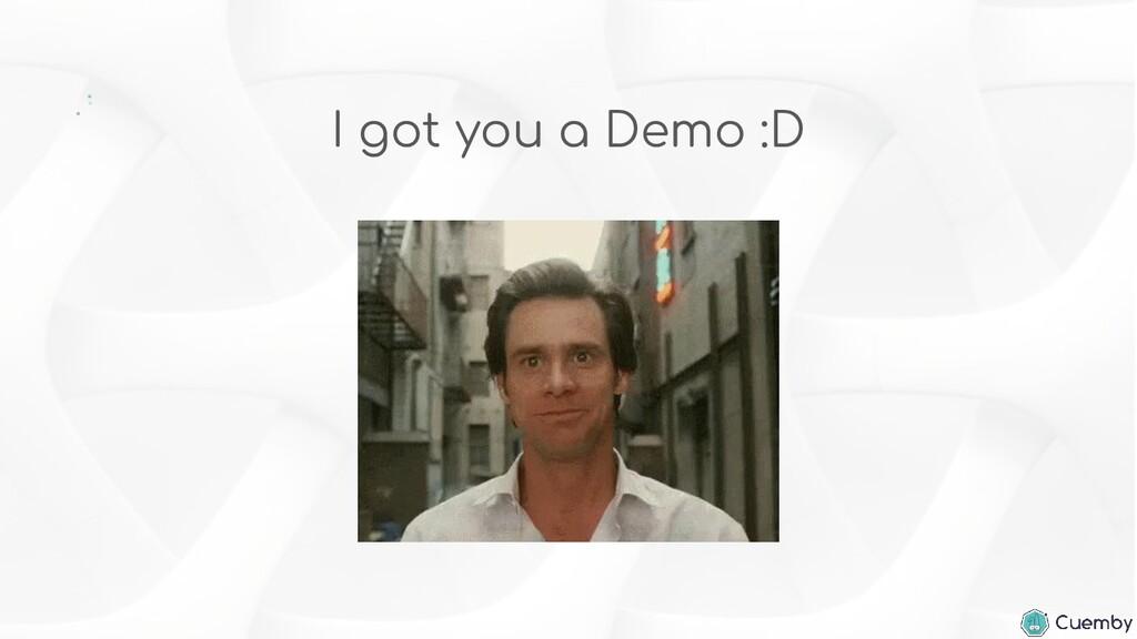 I got you a Demo :D