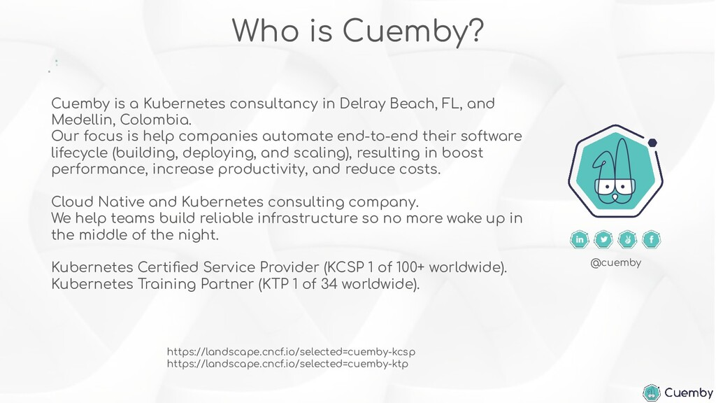 Cuemby is a Kubernetes consultancy in Delray Be...