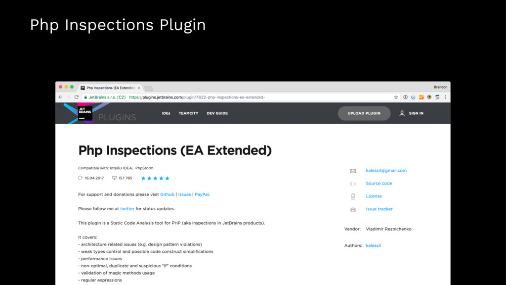 Php Inspections Plugin