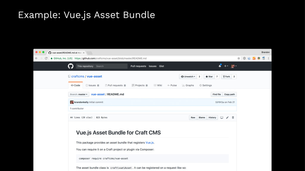 Example: Vue.js Asset Bundle