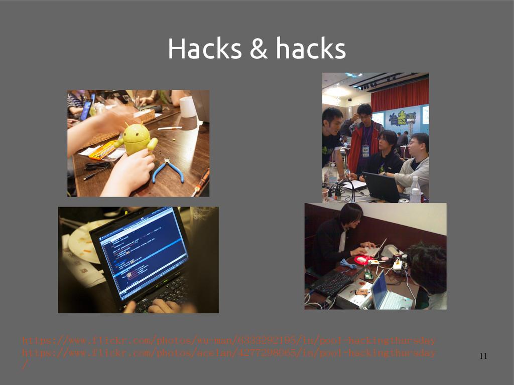11 Hacks & hacks https://www.flickr.com/photos/...