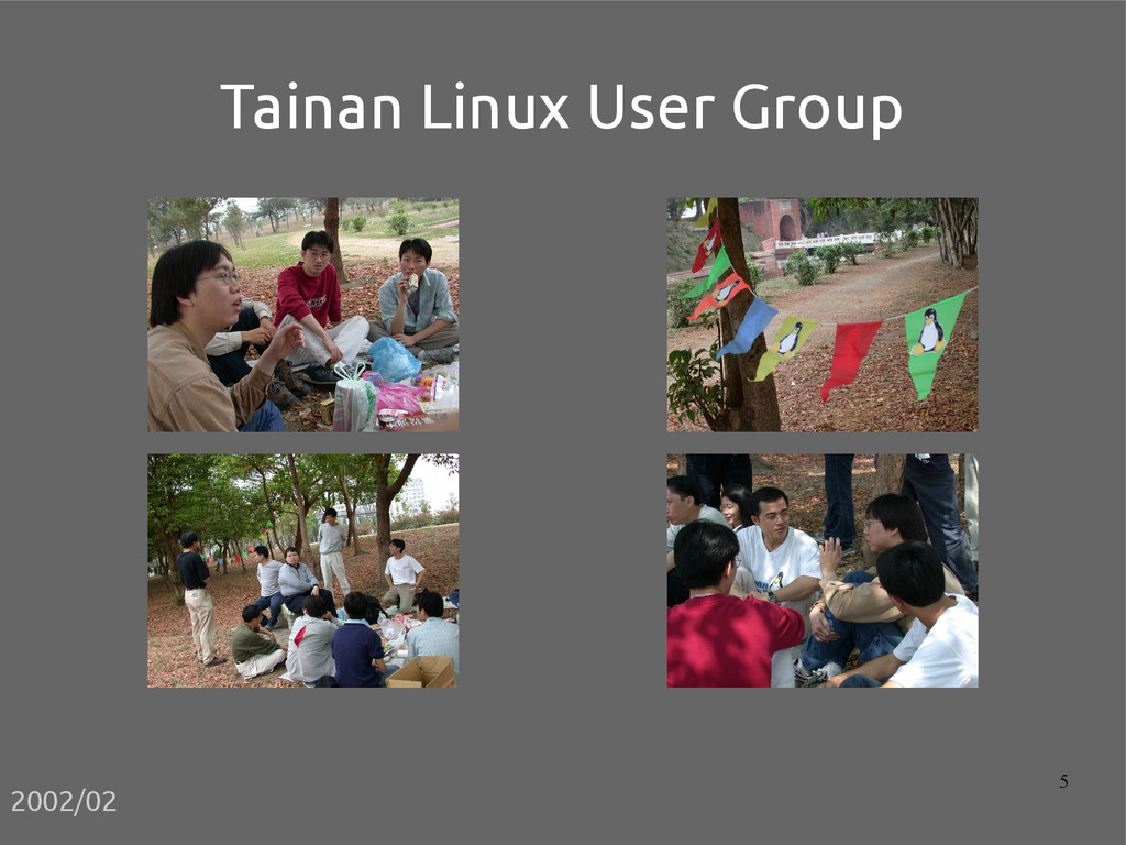 5 Tainan Linux User Group 2002/02