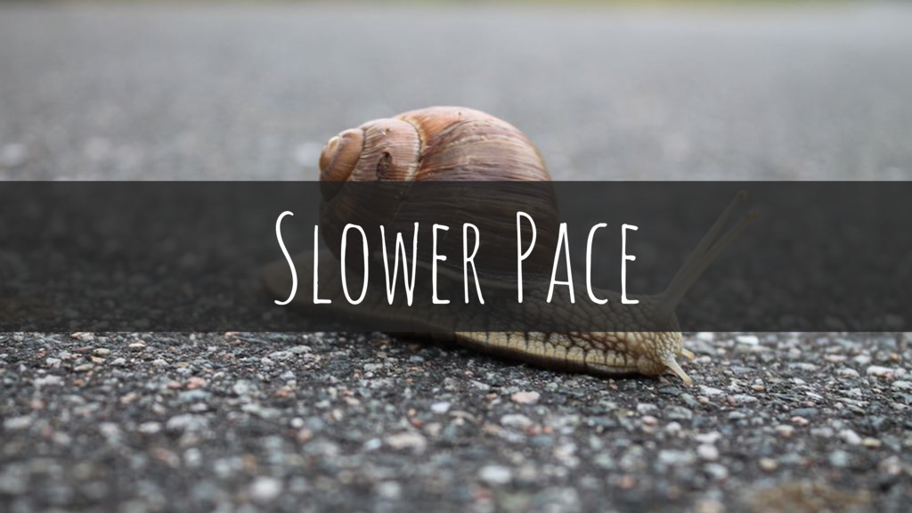 Slower Pace