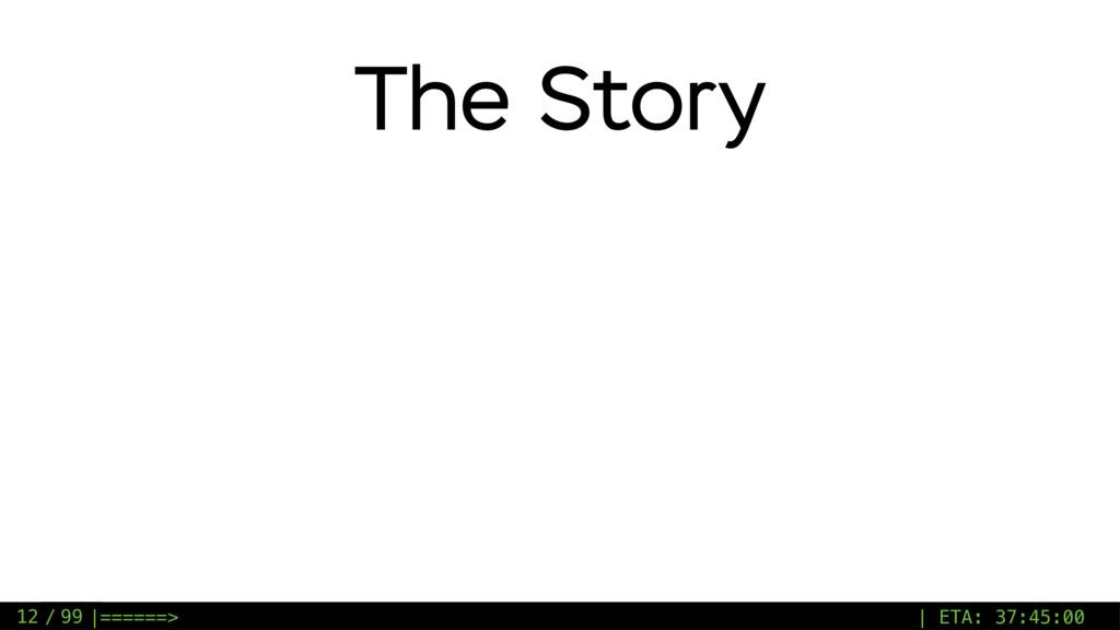 / 99 The Story 12 |======> | ETA: 37:45:00