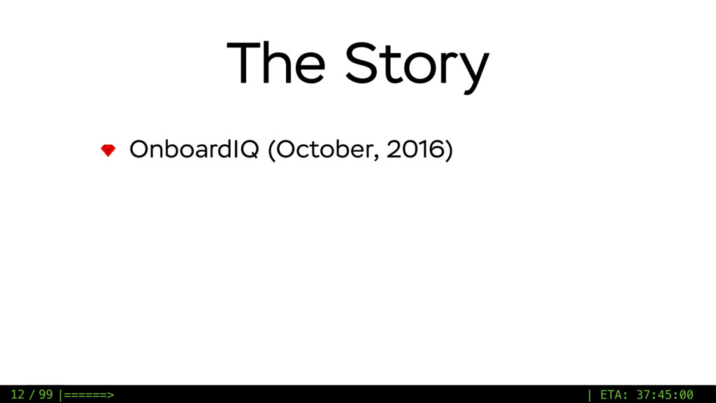 / 99 The Story OnboardIQ (October, 2016) 12 |==...