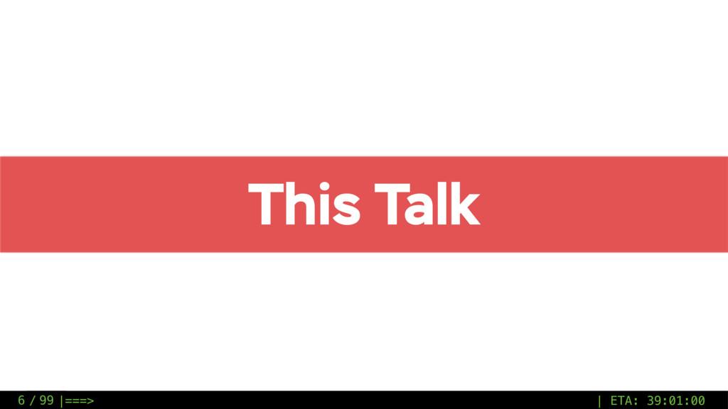 / 99 This Talk 6 |===> | ETA: 39:01:00