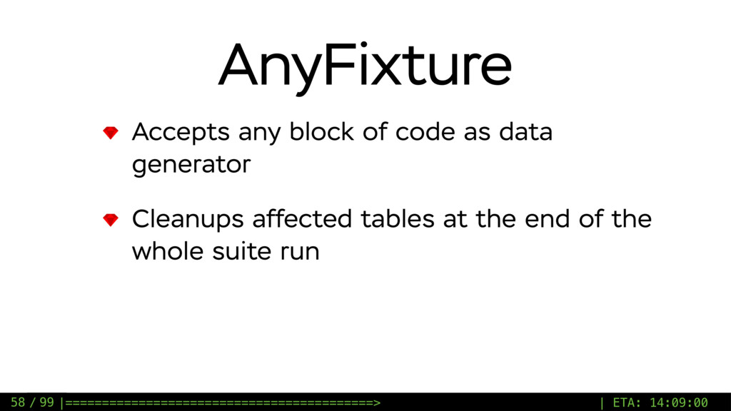 / 99 AnyFixture Accepts any block of code as da...
