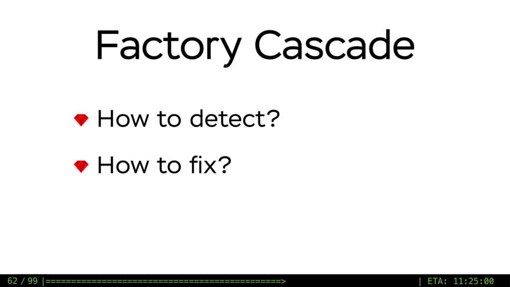 / 99 Factory Cascade How to detect? How to fix? ...