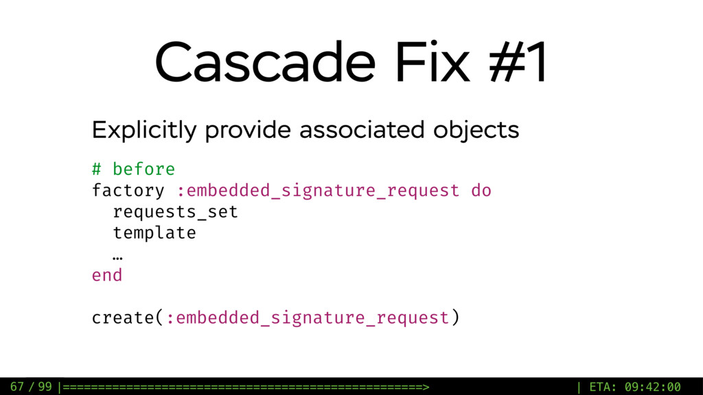 / 99 Cascade Fix #1 67 Explicitly provide assoc...