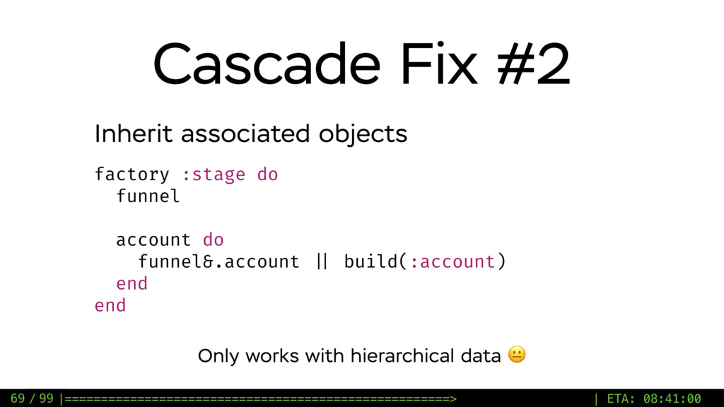 / 99 Cascade Fix #2 69 factory :stage do funnel...