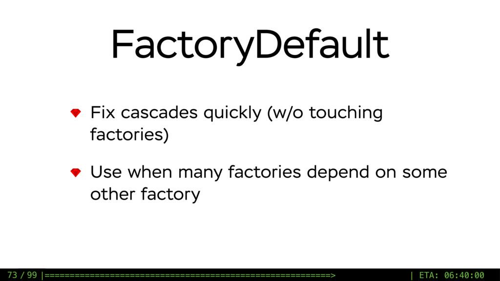 / 99 FactoryDefault Fix cascades quickly (w/o t...