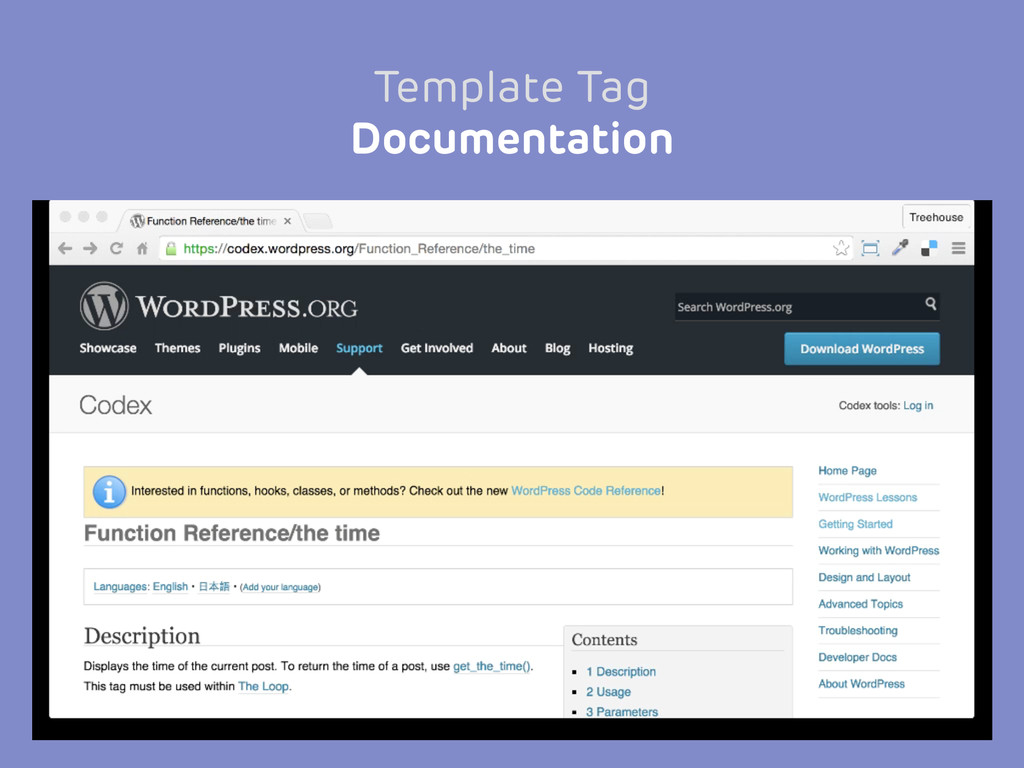 Template Tag Documentation