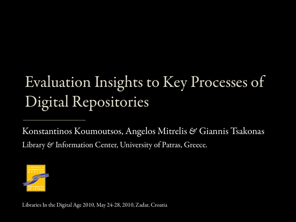 Evaluation Insights to Key Processes of Digital...