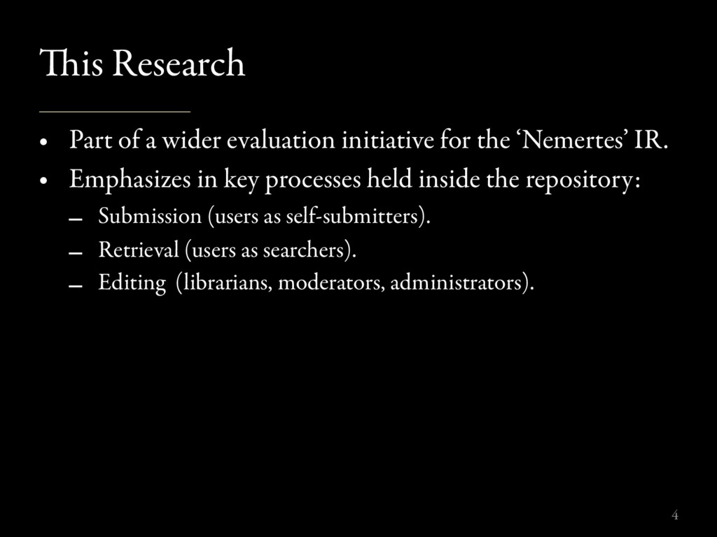 is Research • Part of a wider evaluation initi...