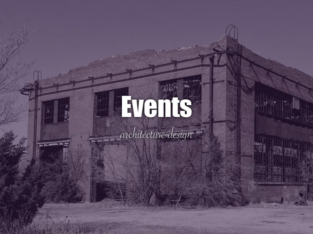 architecture design Events