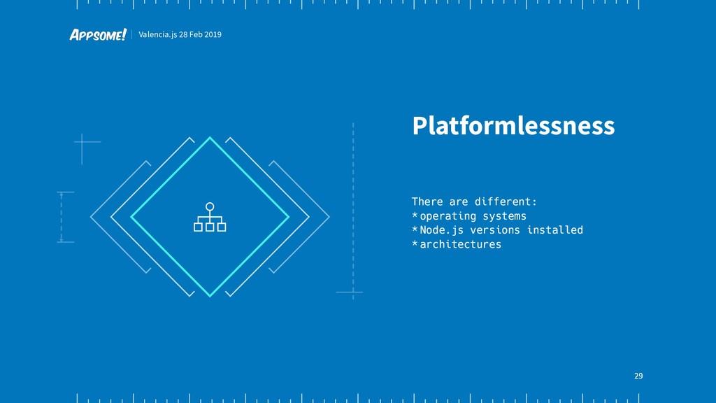 Valencia.js 28 Feb 2019 29 Platformlessness The...