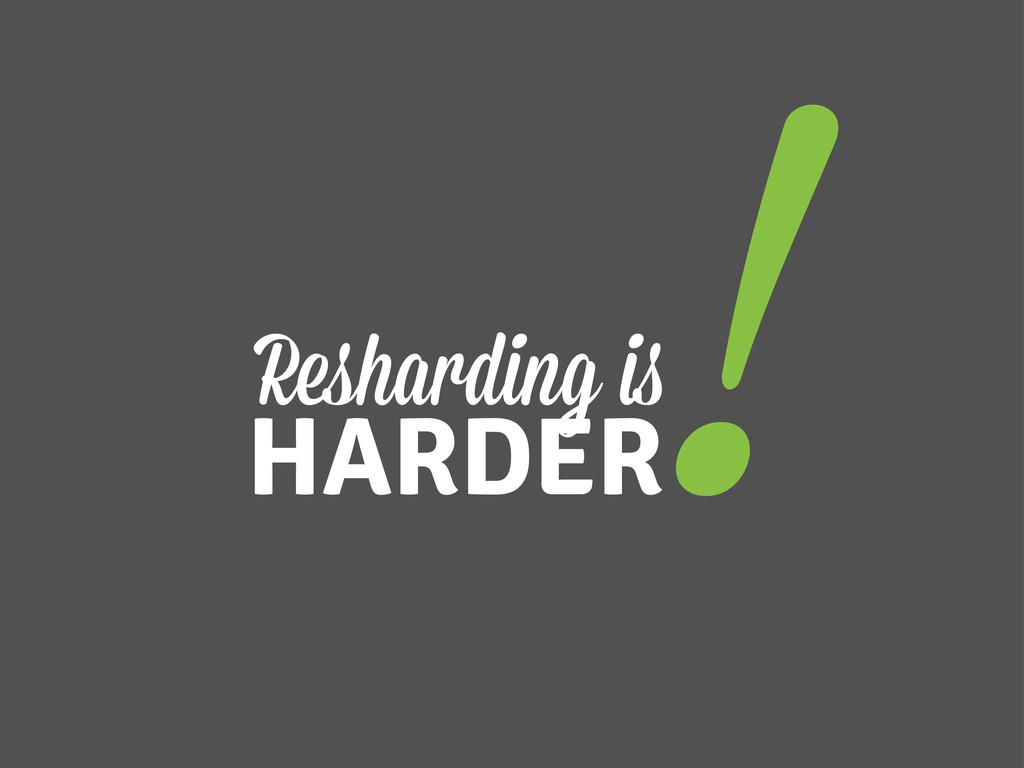 Resharding i HARDER !