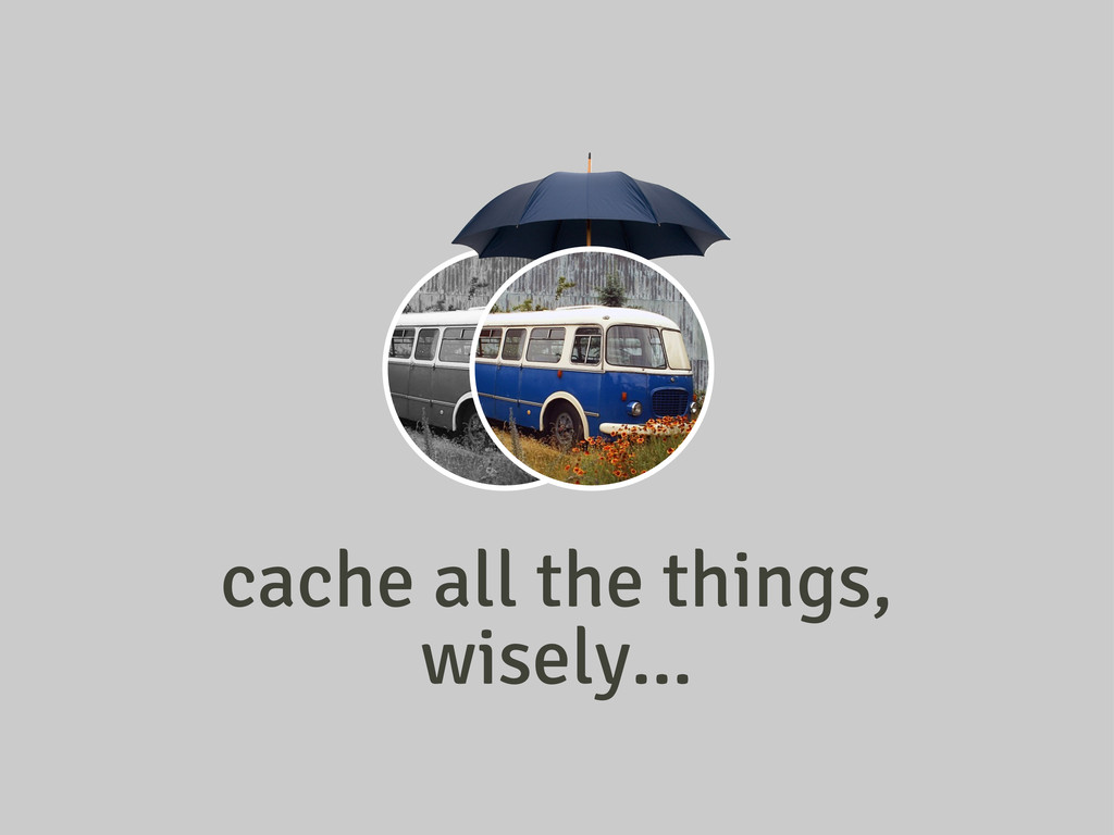 cache all the things, wisely...