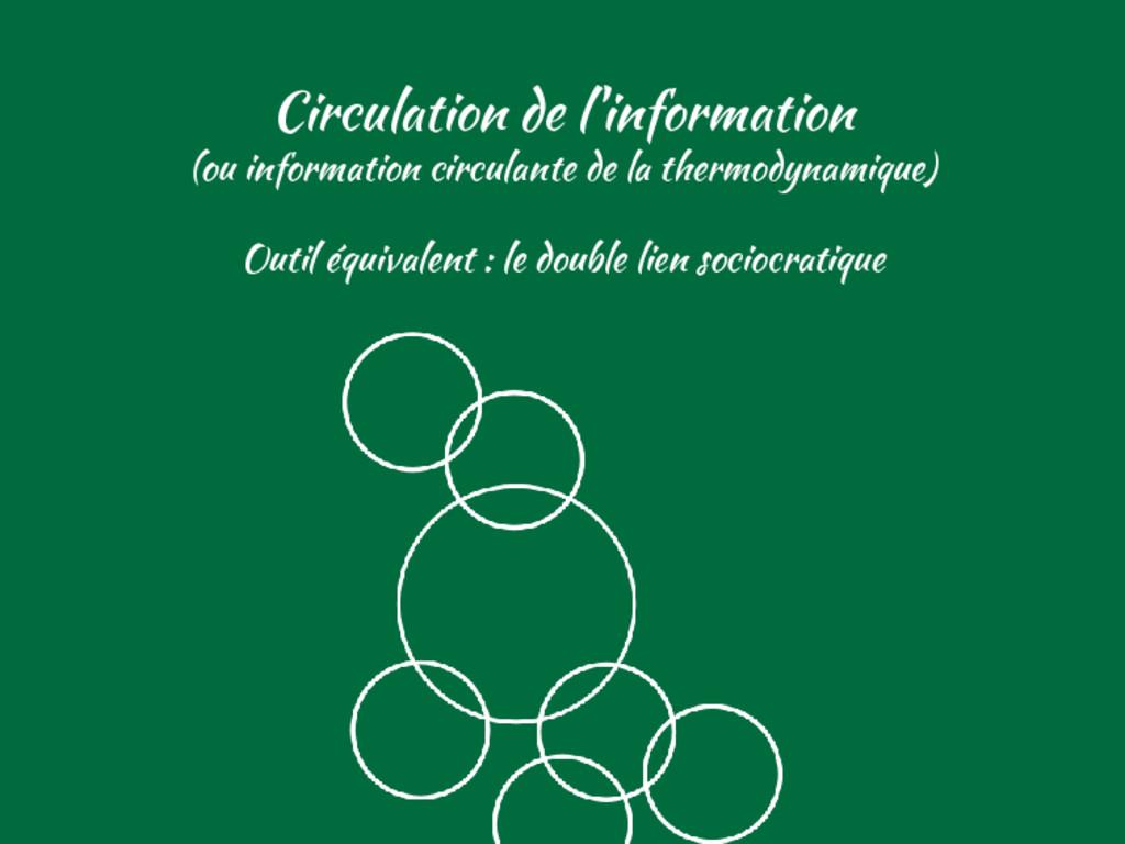 Circulation de l'information (ou information ci...