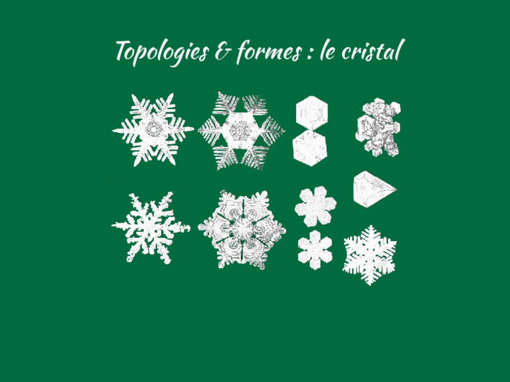 Topologies & formes : le cristal