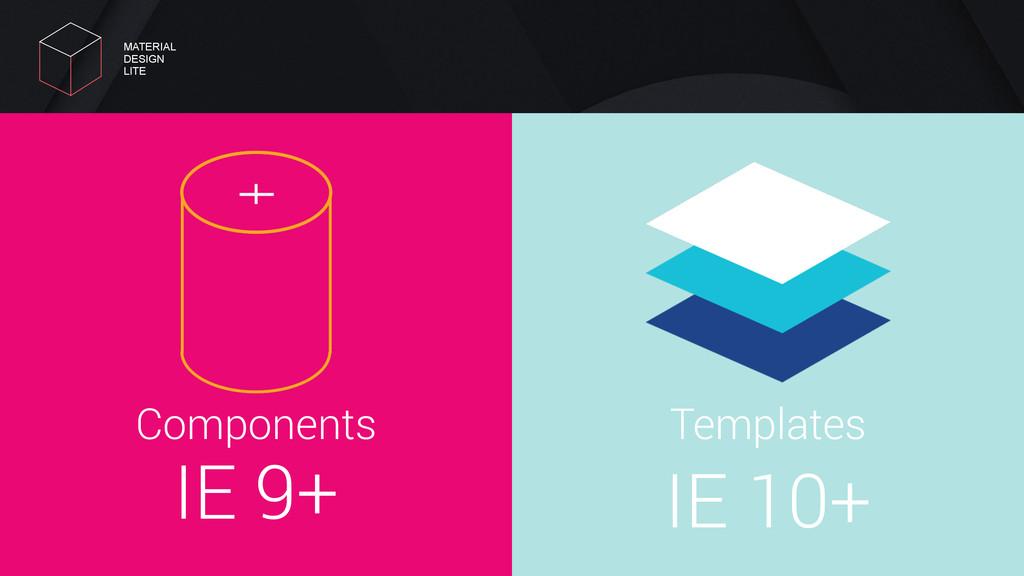 IE 9+ Components IE 10+ Templates MATERIAL DES...