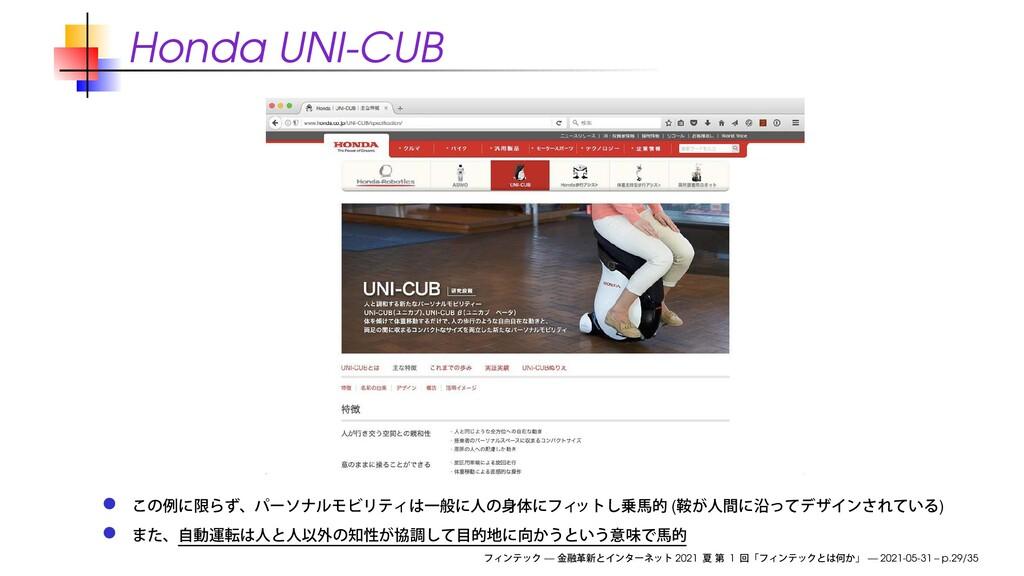 Honda UNI-CUB ( ) — 2021 1 — 2021-05-31 – p.29/...
