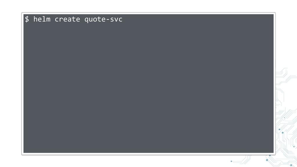 $ helm create quote-svc