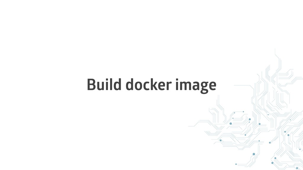 Build docker image