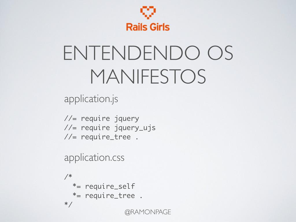 @RAMONPAGE ENTENDENDO OS MANIFESTOS application...