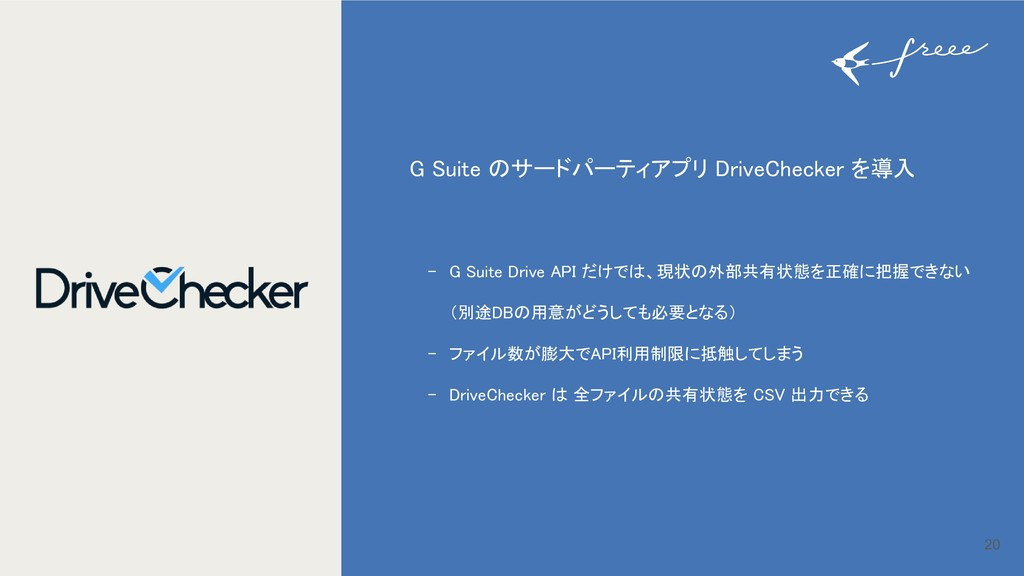 20 G Suite のサードパーティアプリ DriveChecker を導入 - G Sui...