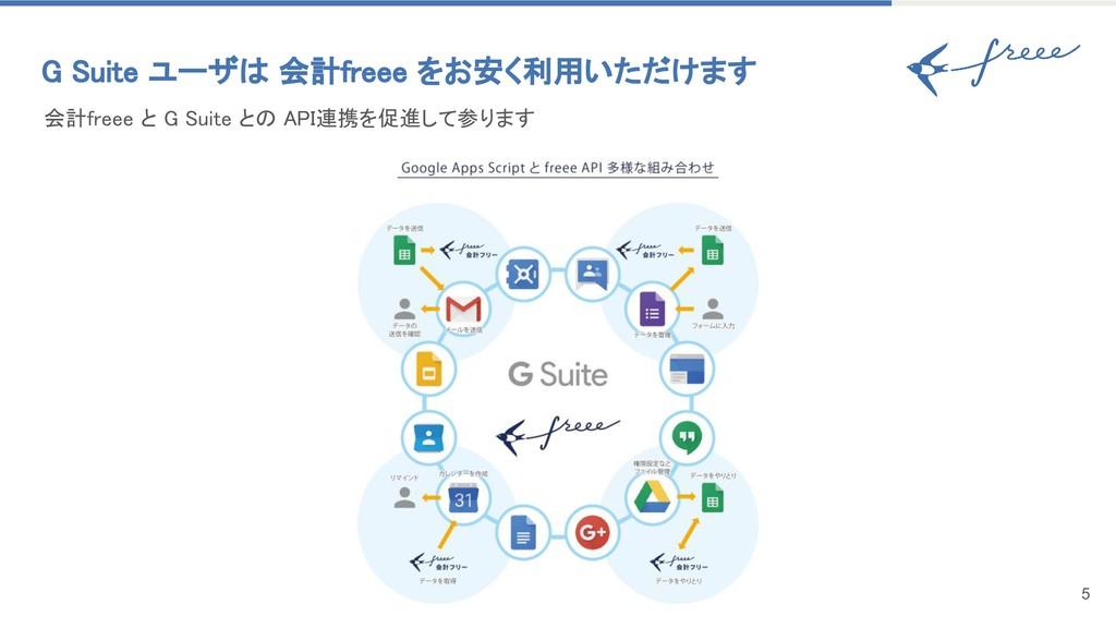 会計freee と G Suite との API連携を促進して参ります G Suite ユーザ...