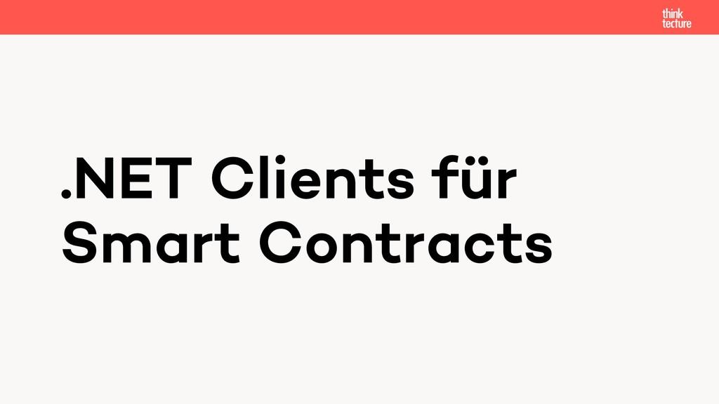 .NET Clients für Smart Contracts