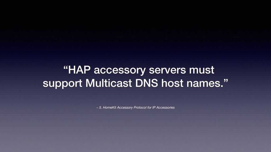 ~ 5. HomeKit Accessory Protocol for IP Accessor...