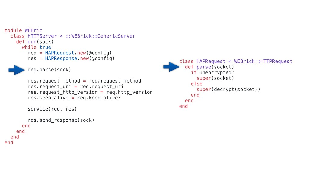 class HAPRequest < WEBrick::HTTPRequest def par...
