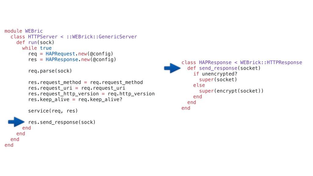class HAPResponse < WEBrick::HTTPResponse def s...