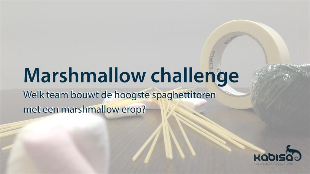 Marshmallow challenge Welk team bouwt de hoogst...