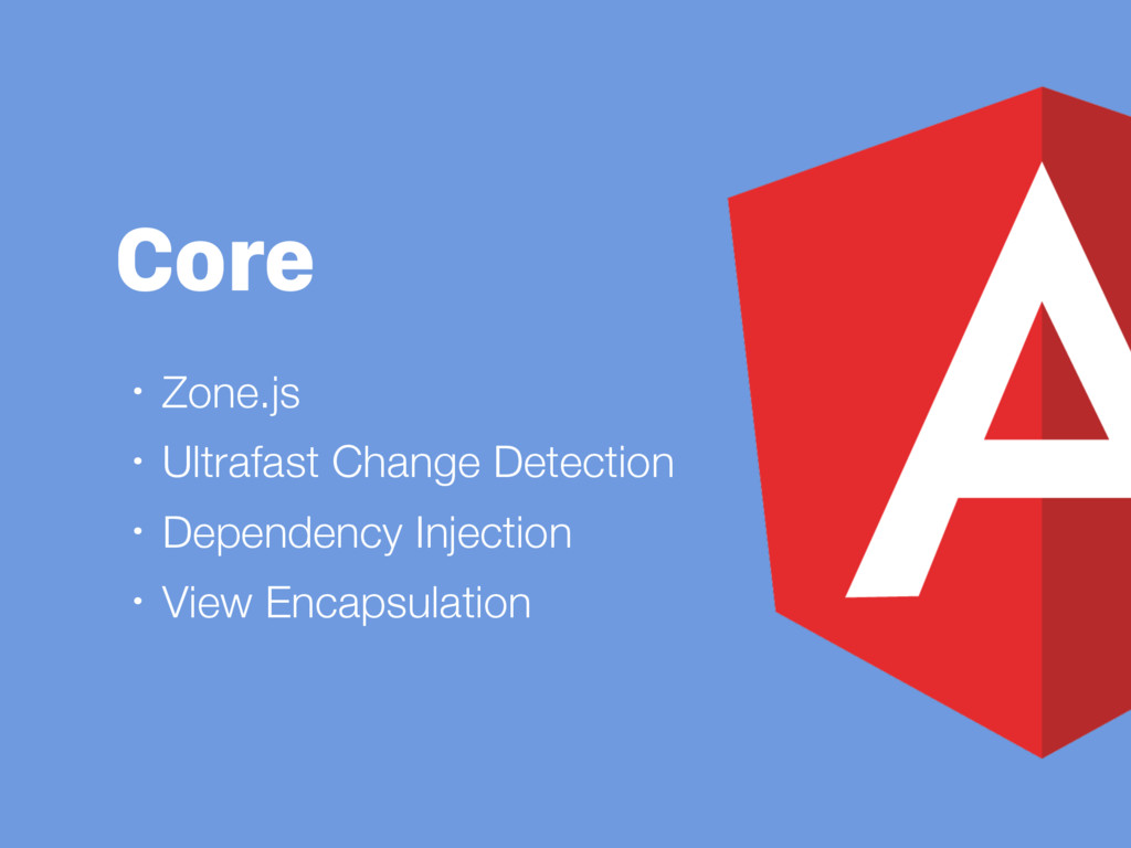 Core • Zone.js • Ultrafast Change Detection • D...