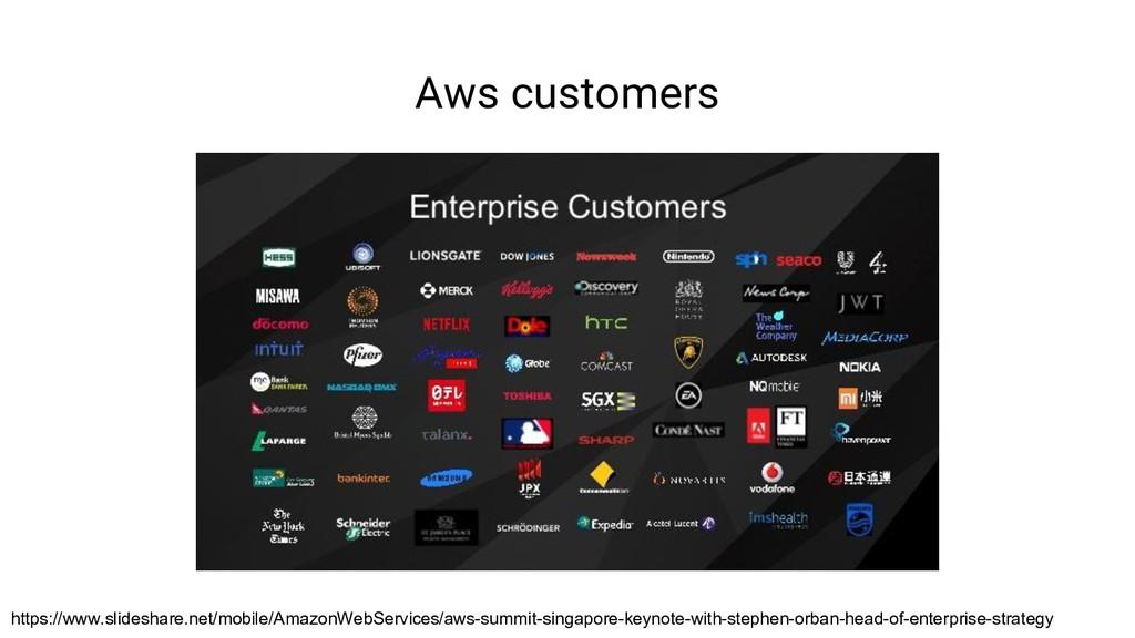Aws customers https://www.slideshare.net/mobile...