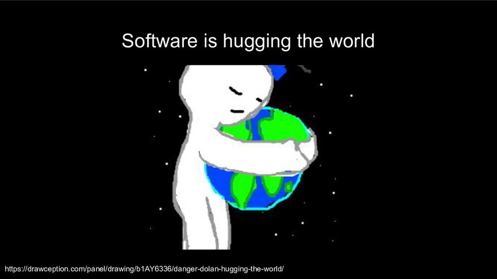 Software is hugging the world https://drawcepti...