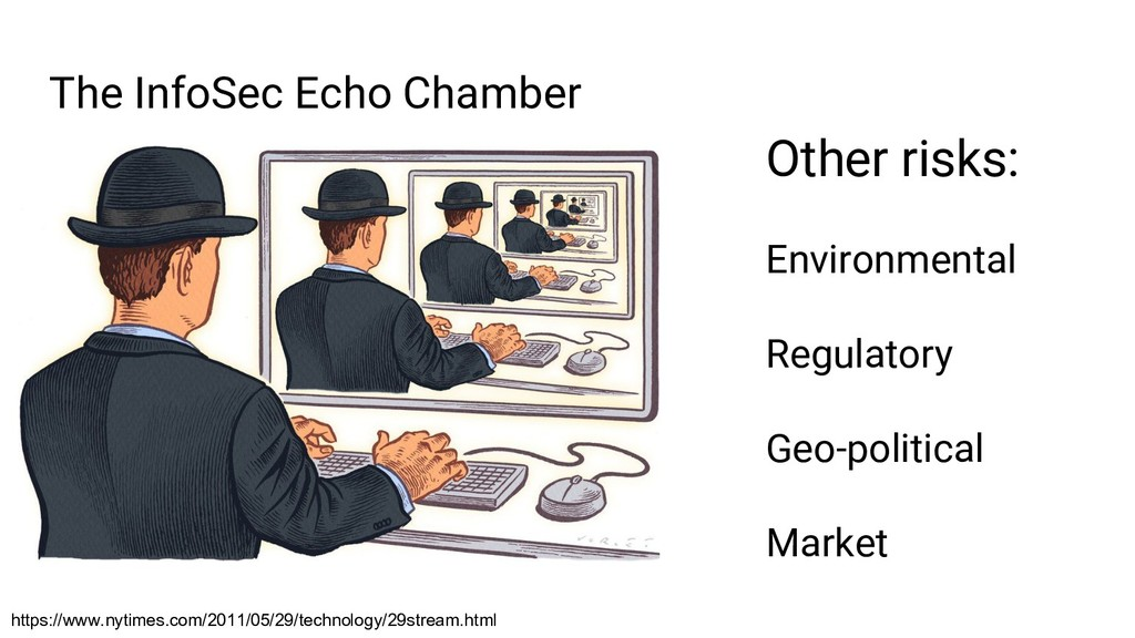 The InfoSec Echo Chamber Other risks: Environme...